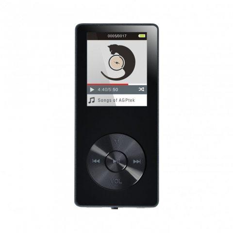 AGPTEK MP3 Avec Haut-Parleur et Ecran Couleurs de 1.8'',Lecteur 8Go MP3 M07, Supporte une Carte Mémoire jusqu'à 32Go(pas incl
