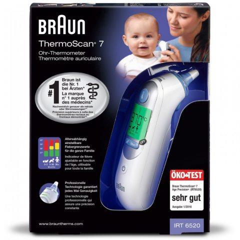 BRAUN ThermoScan 7 Thermomètre - IRT6520