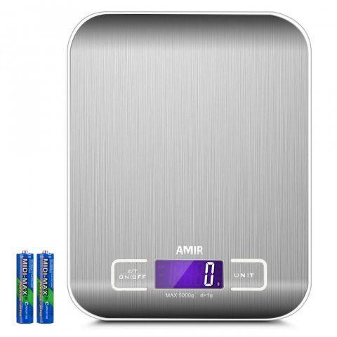 AMIR Balance de Cuisine Electronique, 5kg/1g, Balance de Cuisine Précision, Balance de Précision Digital, Balance Alimentaire