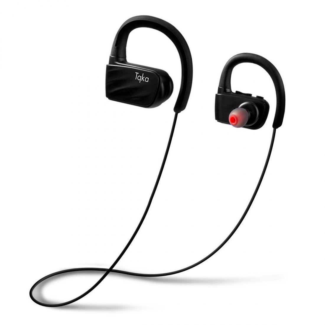 Tqka Écouteurs Bluetooth, Écouteurs Sans fil Imperméables IP67, Écouteurs Bluetooth V4.1 HD Stéréo avec Micro avec 8 heures d