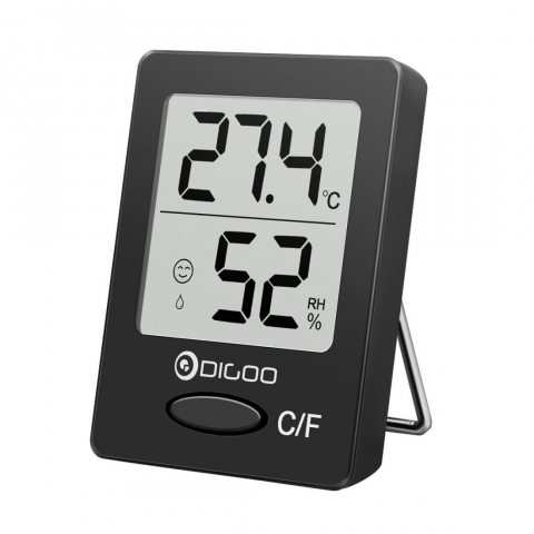 DIGOO DG-TH1130 Thermomètre Intérieur Numérique Hygromètre Température Humidité Pour Maison Confortable Noir
