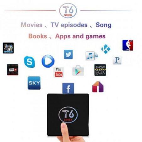 T6 TV Box S905X Andrews 7.1 Système TV BOX 2 + 16