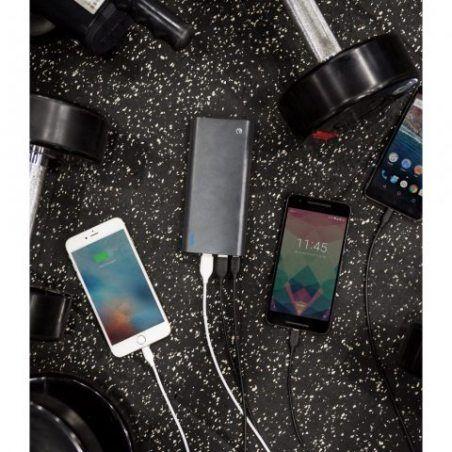 eeco Batterie Externe 20800mAh Quick Charge 3.0 USB- C 3 Ports Portable Power Bank Charge Secours Recharge Rapide pour Samsun