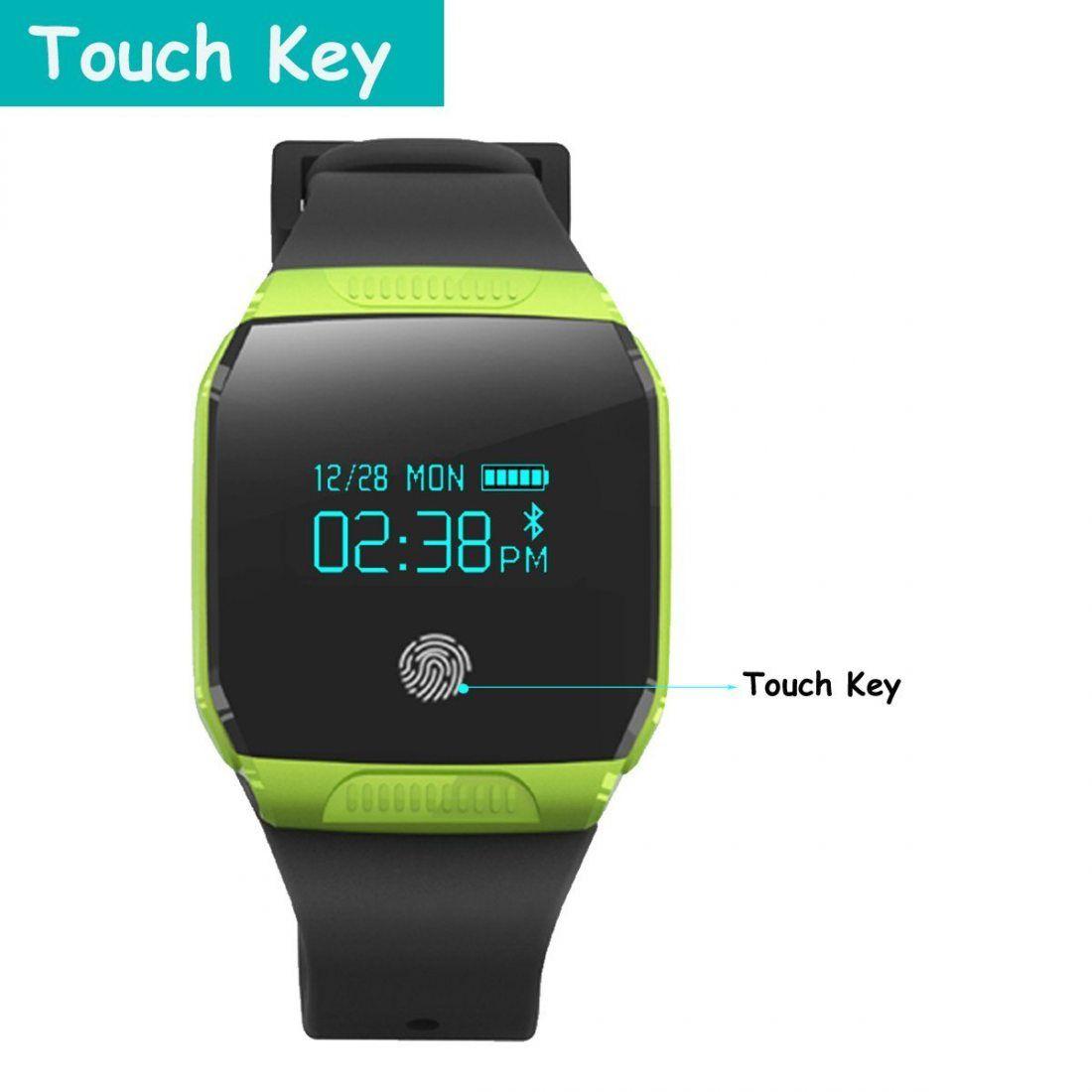 Tracker d'Activité, GanRiver® Fitness Tracker Etanche IP67 Montre Podometre Marche Bluetooth Bracelet Connecté pour Android i