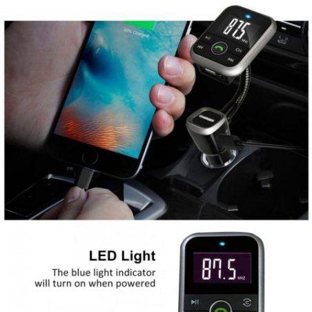 Ecandy Bluetooth Transmetteur FM avec écran LCD Sans fil Car MP3 Radio Adaptateur Kit Voiture Mains-libres avec USB Charge Mu