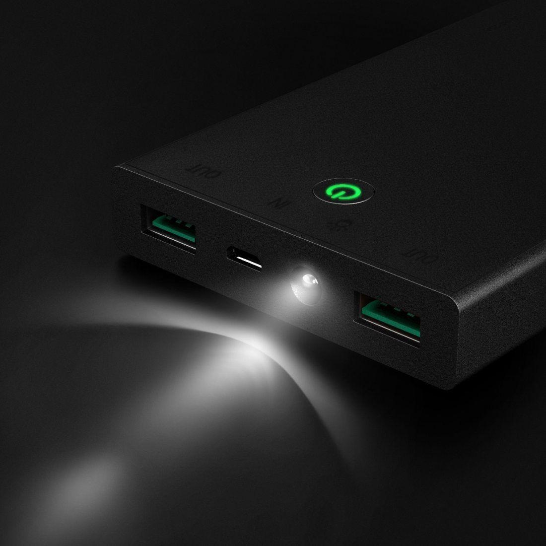 AUKEY Batterie Externe 16000mAh, BatteriedeSecours avec 2 Ports un Total de 3,4A pour iPhoneX/8/Plus/7/ 6s,SamsungS8+