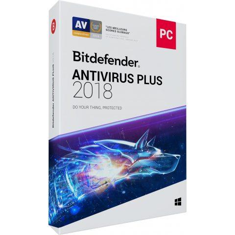 Bitdefender Antivirus Plus 2018 - 2 ans - 3 PC