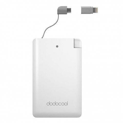 dodocool mini MFI Batterie Externe 2500mAh Ultraminces [Certifié par MFi] avec Un Micro-Câble USB et Adaptateur pour iPhone S
