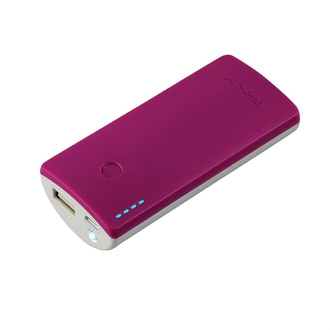 PNY Curve 5200 Batterie externe téléphone portable rechargeable 5200 mAh pour smartphone Violet