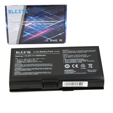 BLESYS - 5200mAh ASUS A42-M70 15G10N3792T0 15G10N3792YO Ordinateur portable Batterie ASUS M70V X71 intègrent G71 X72 N70SV sé