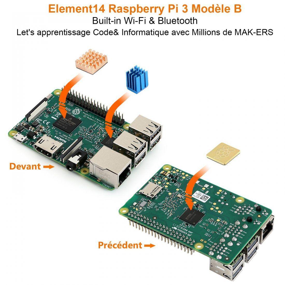 globmall abox raspberry pi 3 mod le b starter kit avec. Black Bedroom Furniture Sets. Home Design Ideas