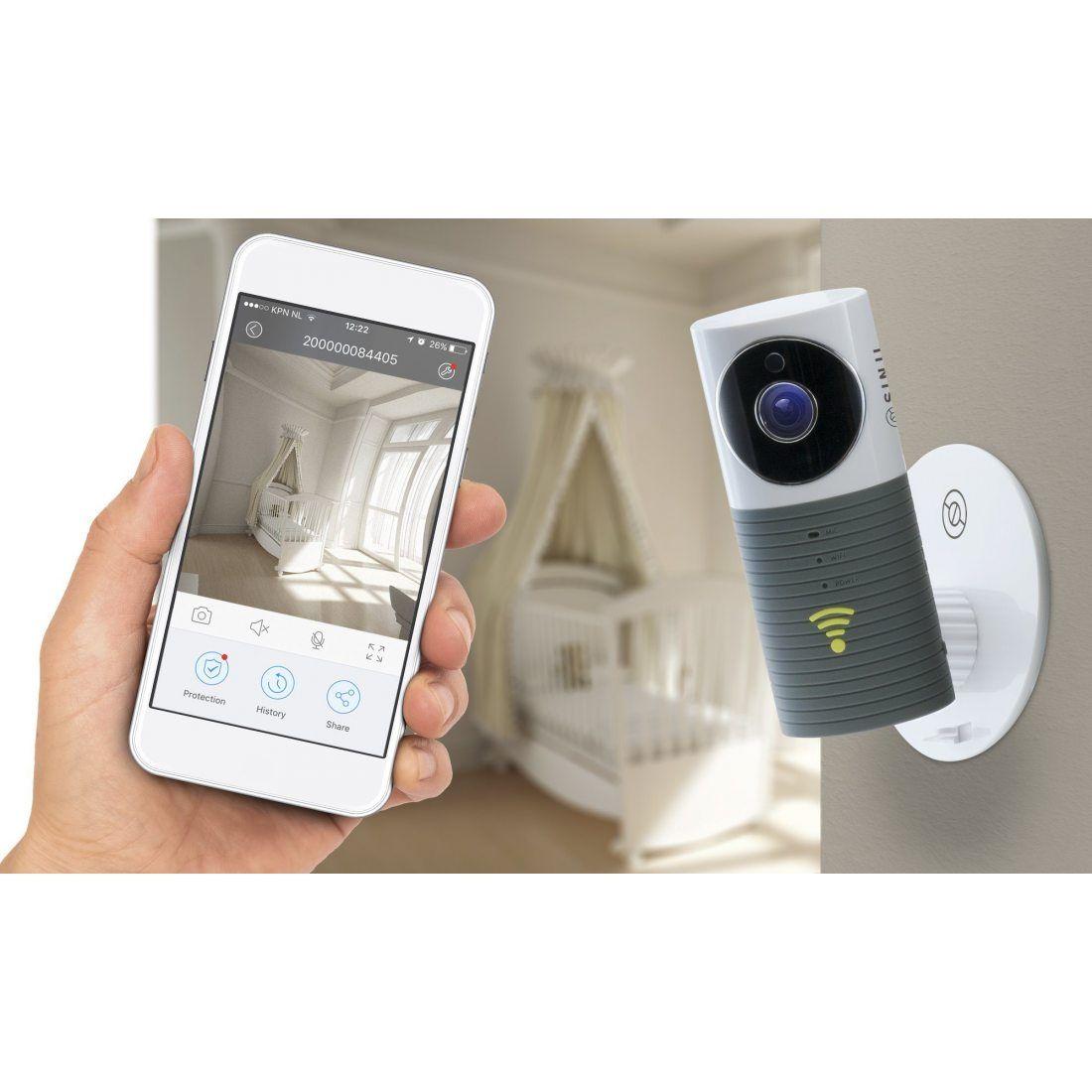 SINJI Indoor Smart WIFI Camera Webcam Wifi, Sans Fil
