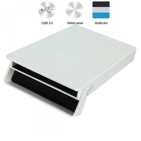 M.Way USB3.0 Noir Netbook 2.5 Pouces Mobile Disque Dur Externe Portable Série SATA HDD SSD en Aluminium Boîtier en Plastique