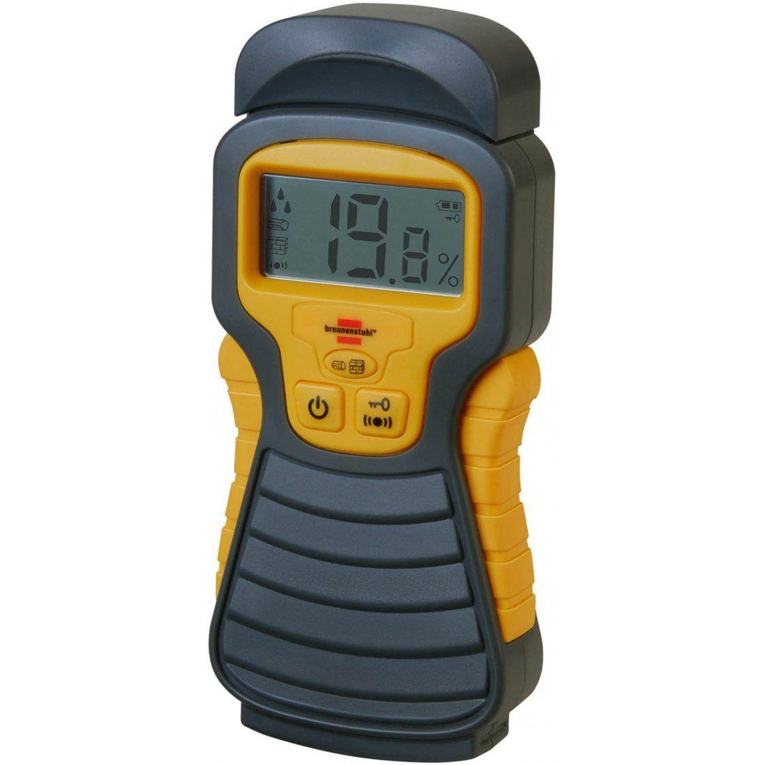 Brennenstuhl Détecteur d'humidité pour divers matériaux, humidimètre avec affichage digital LCD & signal sonore, anthracite &