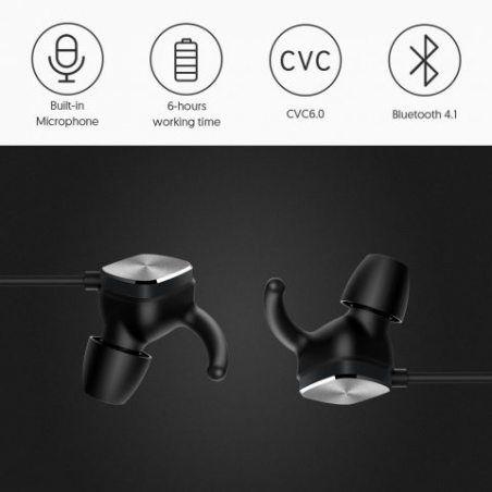 Écouteurs Bluetooth sans Fil Techvilla Casque Bluetooth V4.1 Oreillette Intra-Auriculaire avec Son Stéréo, Anti-Sueur pour Sp
