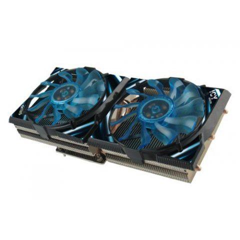 Gelid Solutions Ventilateur Icy Vision A VGA 02-02 pour AMD HD5850 à HD7970, 5 caloducs, 2 ventilateurs 92mm, compatible Cro