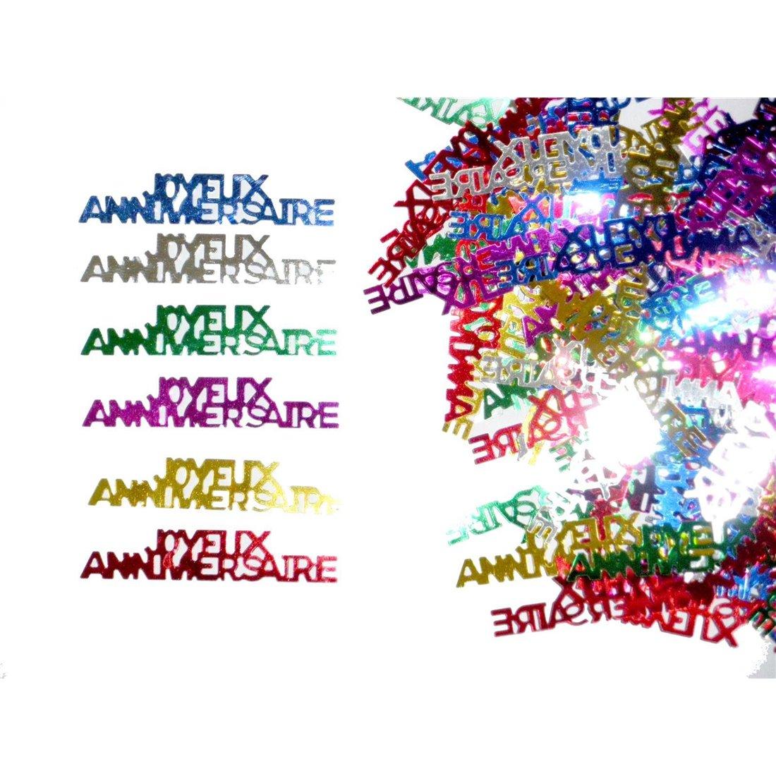 Confettis de table joyeux anniversaire (14 g)