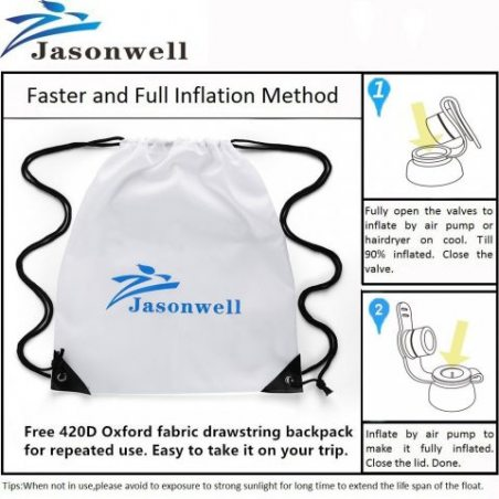 Jasonwell®Pegasus Gonflable Géant Flotte dans la Piscine avec des Valves rapides Spéciales.
