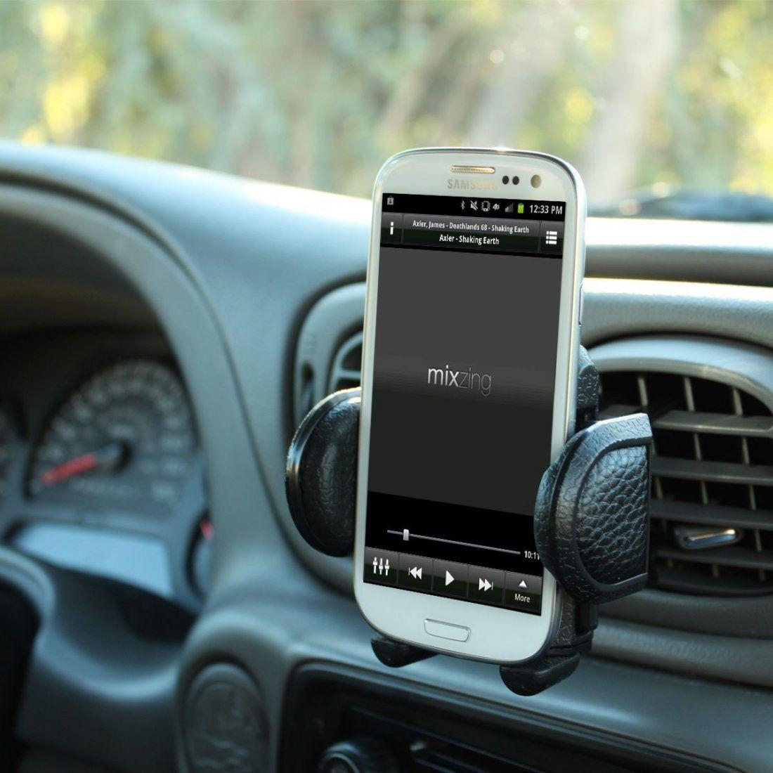 USA Gear Support Téléphone Voiture Grille Ventilation Universel - Tête pivotante à 360° pour Mode de vue Portrait ou Paysage