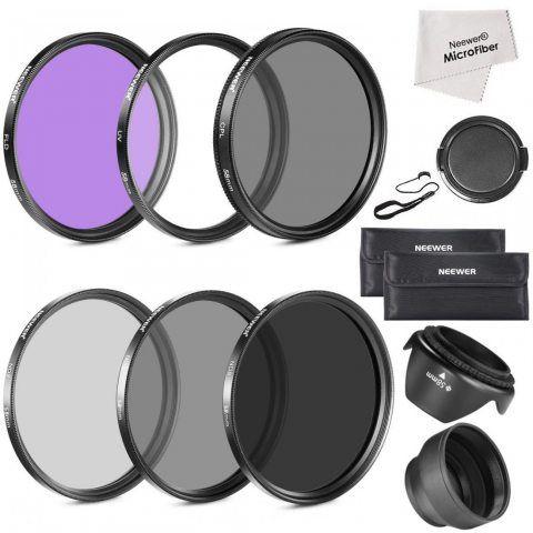 Neewer® 58mm Objectif Filtre Kit d'Accessoire pour Canon EOS 700D 650D 600D 550D 500D 450D 400D 350D 300D 1100D 1000D 100D 60