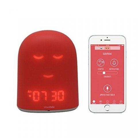 UrbanHello REMI – Babyphone Ecoute-Bébé avec alertes de bruit 5-en-1 - Veilleuse - Enceinte Bluetooth - Coach du Sommeil et R