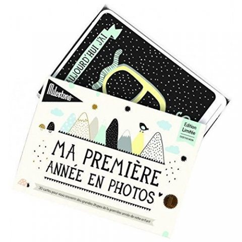 Milestone Cards - Journal et livre de naissance - Cartes Ma Premiere annee en photos
