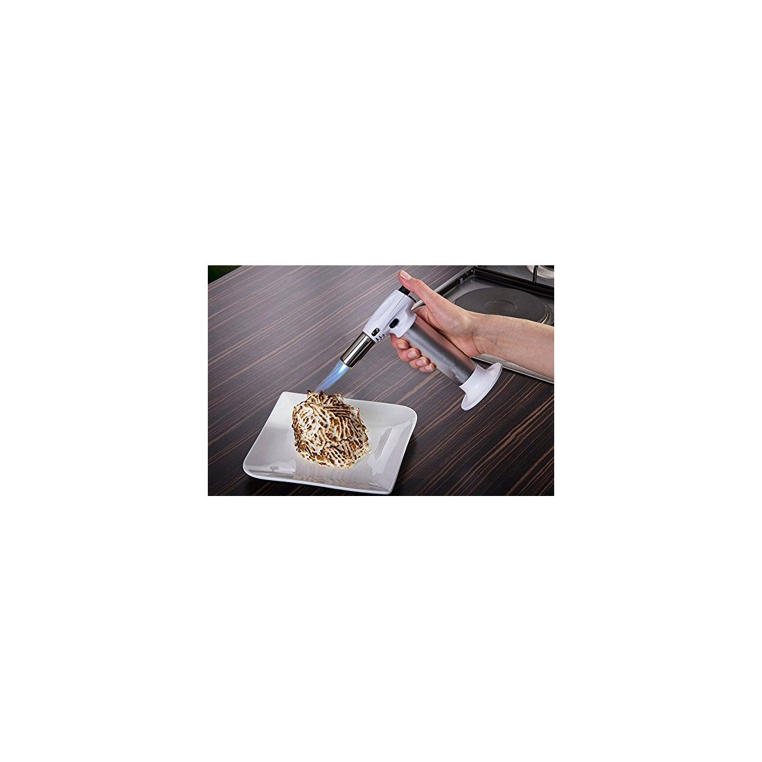 Queta Chalumeau de Cuisine Professionel Chalumeau à Gaz Alimentaire Culinaire Brûleur pour Caramélisation Crème Brûlée Cuisso