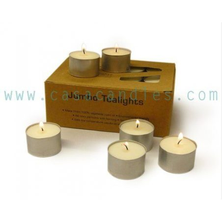Heaven Scent Natural Organic Jumbo Tea Light Candles - 24 (Long Life 7 hours) by Heaven Scent