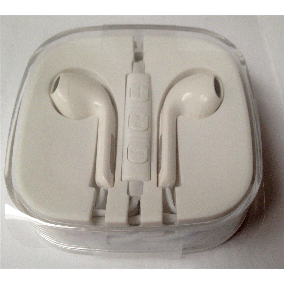 Mgs33 Ecouteurs intra-auriculaires HQ Compatible Blanc New Design Avec Fonction Kit Main Libre Pour téléphone , tablettes, Ip