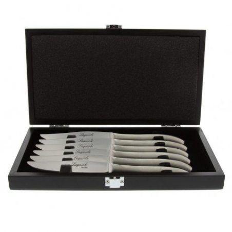 Pradel Excellence - 7620-6 - Coffret 6 Couteaux Laguiole Monobloc Forgés - Fabriqués en France