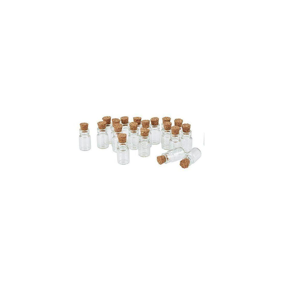 Lot De 20 Fioles Mini Bouteilles En Verre 18x10mm