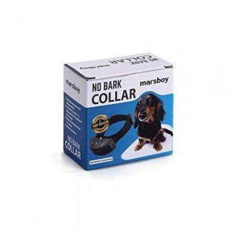 marsboy Collier Anti-Aboiement Collier de Dressage Etanche Collier d'Education Automatique pour Entraîner Chien Batteries Inc