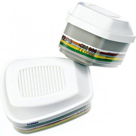 3M Filtres de rechange pour demi-masques réutilisables 6002°C 6004RC