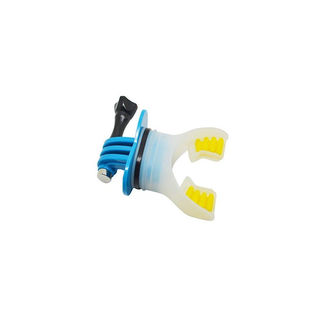 Goliton® Support en bouche de surf connecteur + flottant + lanière de surf pour GoPro Hero 4S/4/3+/3/2/1-Bleu