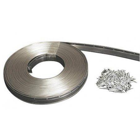 Jourjon Jean 050151 Joint métallique Inox 25 m Largeur 18 mm Argent