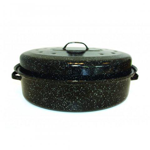 Beka 14730344 Kitchen Roc Roasty Cook Couvercle Émail Noir 39 x 26 x 9 cm