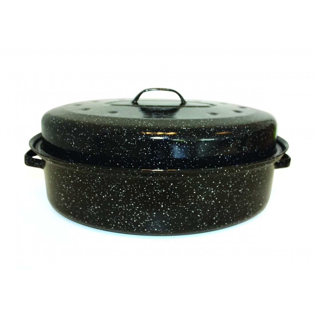Beka 14730344 Kitchen Roc Roasty Cook Couvercle Émail Noir 39 x 26 x 9 cm