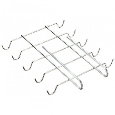 Wenko 2748130100 Insert Porte-Tasses pour 10 Tasses, Chrome, Dimensions 28 x 5 x 22 cm