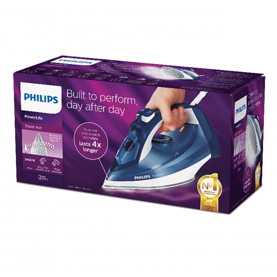 Philips GC2994/27 Fer à repasser Bleu 2400 W