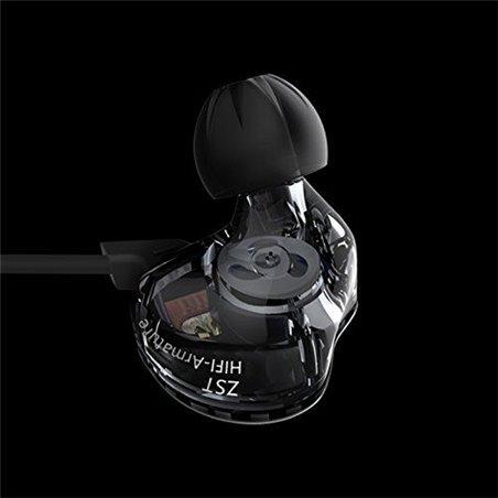 KZ-ZST écouteurs, Ollivan KZ-ZST Ecouteurs Casque Casque Earbud In Ear Annulation de bruit HIFI Heavy Bass Stereo avec Mic po