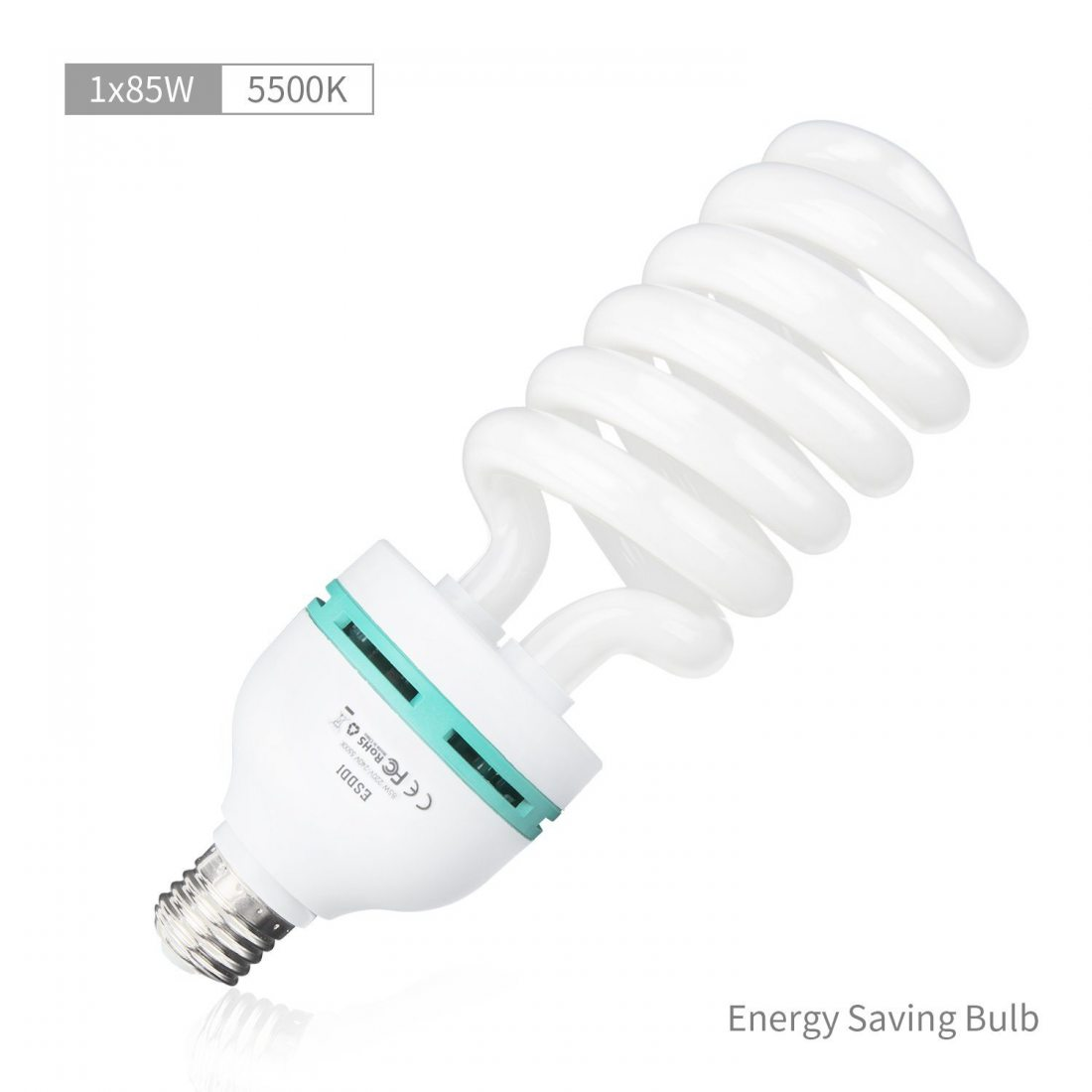 ESDDI Lamp Studio Photo, 85W E27 5500K Continue Photo Studio Ampoule pour Softbox Vidéo Lumière Lampe du Jour