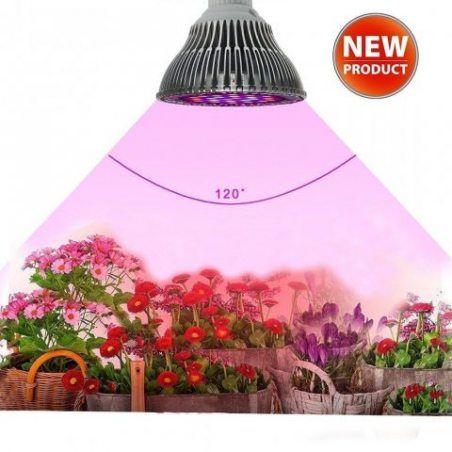 InteTech Led Grow Light, Plein Spectrum 78 LED Indoor Garden Plant Grow ampoule - 15W E27 (30 LED bleue & 42 LED rouge & 6 ja