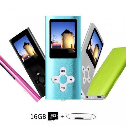 Btopllc MP3 / MP4 16 GB MP3 lecteur de carte lecteur MP3 / MP4 LCD Player Media Player avec Mini USB Port / lecteur de musiqu