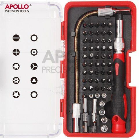 Apollo Precision Tools Set d'embouts 58pièces pour réparations électroniques (réparation de téléphones portables, iPhone, Ma