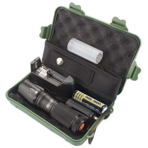 Probe Shiny 5000 Lumens Tactical LED CREE XM-L T6 Lampe de poche de police X800 Zoom Super Bright militaire de grade étanche