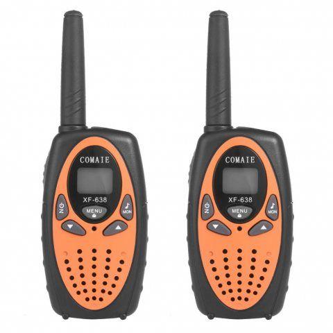 Ming 2PCS Talkies Walkies Portable 8 Canaux XF-638 2 Voies 446MHz 3KM en Champs Libre Parfait pour Supermarché Centrale d'ach