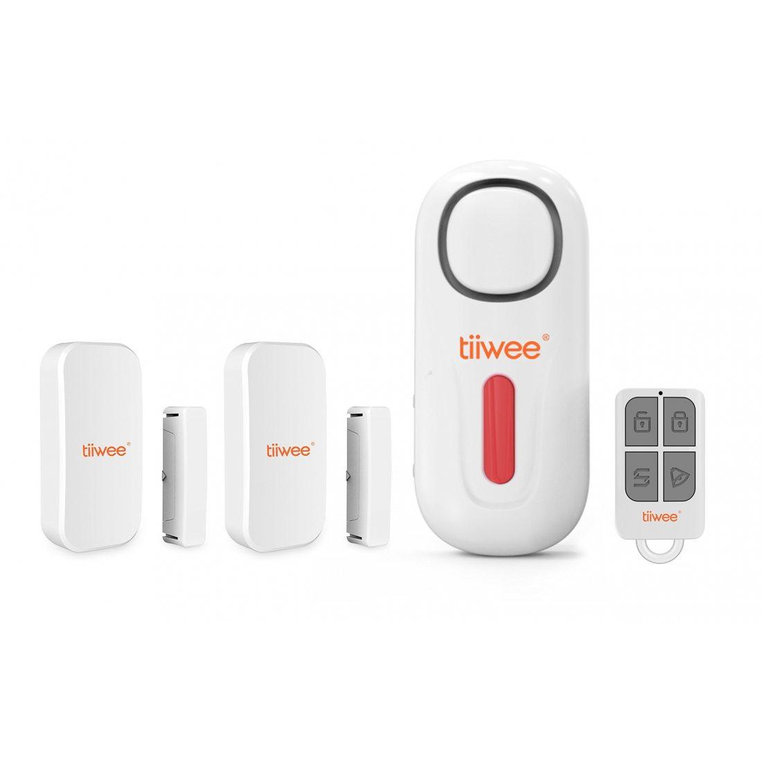 tiiwee kit de d marrage alarme de maison syst me d 39 alarme anti intrusion sans fil avec sir ne. Black Bedroom Furniture Sets. Home Design Ideas