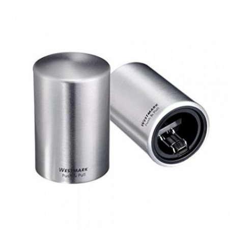 Westmark 61882260 Push & Pull Décapsuleur Acier Inoxydable Argent 8 x 5,5 x 5,5 cm