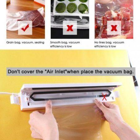 ROGUCI Conservation des aliments Appareil de Mise Sous Vide ,M▒nage ▒lectrique Alimentation automatique Vacuum Sealer machine