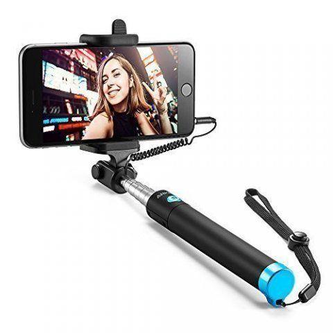 Anker Selfie Stick Selfie-Stangen Ausfahrbar [ohne Akku] Kabelgebunden Stab für iPhone 7 7plus 6s 6 5, Android Galaxy Nexus u